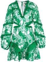 Alexis Imetta embroidered ruffle dress