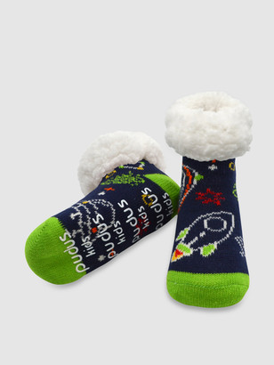 Pudus Kids Classic Slipper Socks | Space Navy