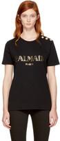 Balmain Black Logo T-Shirt