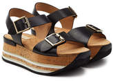 Hogan Platform Sandals with Leather