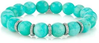 Sheryl Lowe Amazonite & Pave Diamond Bracelet