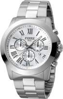 Ferré Milano Men's FM1G079M0061 Silver Dial with Silver Stainless-Steel Band Watch.