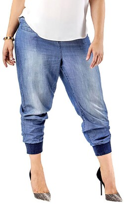 Standards & Practices Marcie High Rise Lightweight Denim Jogger Pants