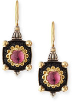 Konstantino Pink Tourmaline Square Drop Earrings