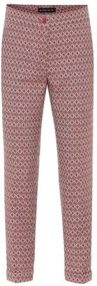 Etro Wool-blend jacquard skinny pants