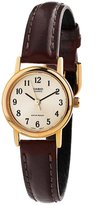 Casio Women's LTP1095Q-9B1 Brown Leather Quartz Watch with Silver Dial