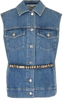 Stella McCartney Logo Belted Denim Vest