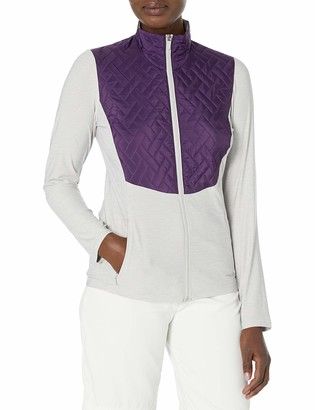 Cutter & Buck Annika Women's Lightweight Full Zip Propel Hybrid Quilded Color Block Jacket