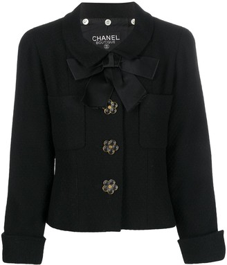 Chanel Pre Owned 1990s Enamel Flower-Shaped Button Jacket