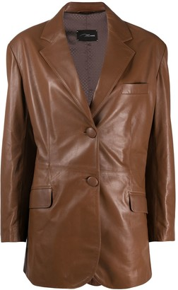 Manokhi Leather Blazer