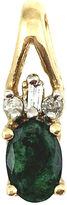 One Kings Lane Vintage 10K Gold Emerald & Diamond Pendant