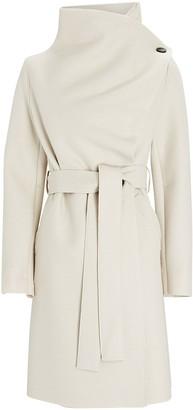 Harris Wharf London Pressed Wool Volcano Wrap Coat