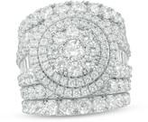 Zales 7 CT. T.W. Diamond Frame Three Piece Bridal Set in 14K White Gold