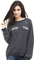 Wildfox Couture Dream Team Sommer's Sweatshirt in Clean Black