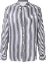 Officine Generale striped long-sleeved shirt