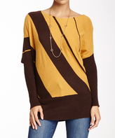 Sisters Brown & Gold Boatneck Sweater