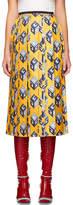 Gucci Yellow GG Wallpaper Skirt