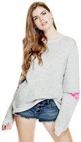 GUESS Luxe Zip Crewneck Sweatshirt