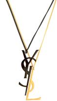 Saint Laurent Deconstructed Monogram double-chain necklace