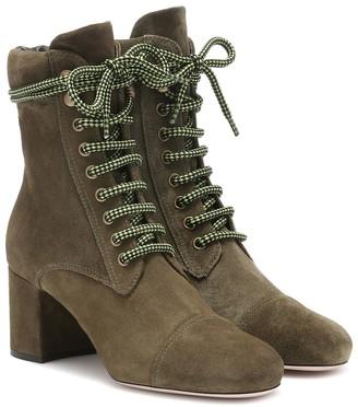 Miu Miu Suede ankle boots