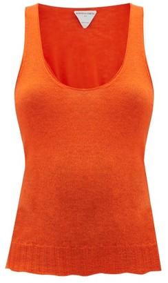 Bottega Veneta Scoop-neck Cashmere Top - Womens - Orange