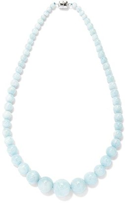 V3 Jewelry Women's Necklaces BLUE - Aquamarine & Sterling Silver Graduated Bead Statement Necklace