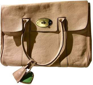 Mulberry Bayswater Beige Leather Handbags