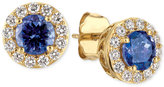 LeVian Le Vian® Tanzanite (1 ct. t.w.) and Diamond (1/3 ct. t.w.) Halo Stud Earrings in 14k Gold