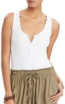Denim & Supply Ralph Lauren Sleeveless Henley Bodysuit