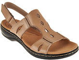 Clarks As Is Leather Lightweight Sandals Leisa Lakelyn