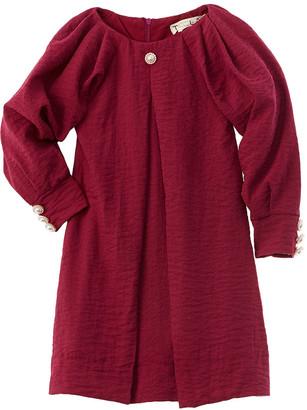 Teela Nyc Dolman Pleated Sleeve Dress