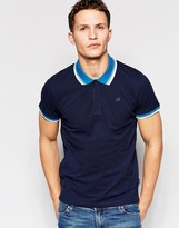 Jack and Jones Pique Polo Shirt with Retro Contrast Collar