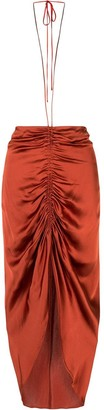 Dion Lee Gathered Tie Midi Skirt