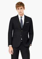 Mango Outlet Slim-Fit Patterned Suit Blazer
