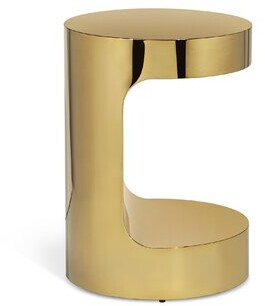 Interlude Dorset C Table End Table Color: Polished Brass