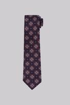 Savoy Taylors Guild Wine Medallion Silk Tie