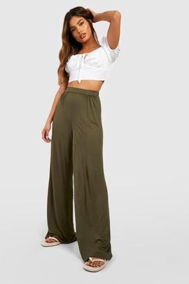 boohoo Basic Pin Tuck Soft Tailored Wide Leg Pants