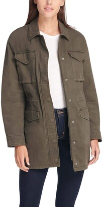 Levi's Women's Cotton Four Pocket Oversized Military Jacket