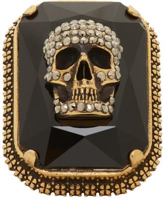Alexander McQueen Gold Skull Ring