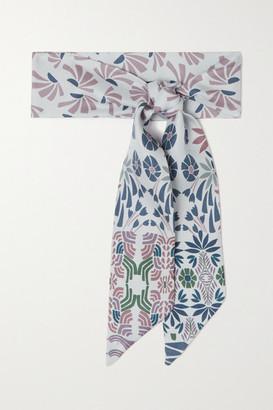 Loro Piana Floral-print Silk-twill Scarf