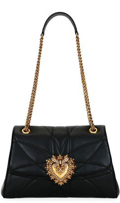 Dolce & Gabbana Devotion Soft-Sided Leather Shoulder Bag