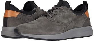 Johnston & Murphy Keating Plain Toe Sneaker (Charcoal Tumbled Nubuck) Men's Shoes