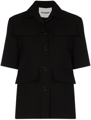 Jil Sander Cropped Shirt Jacket