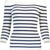 Fuzzi Off Shoulder Striped Sweater
