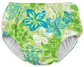 I Play Turtle Snap Swim Diaper in Green