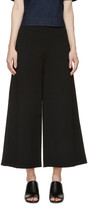 Stella McCartney Black Knit Wide-Leg Trousers