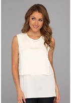 Calvin Klein Lace Combo Poly CDC Shell (Eggshell) - Apparel