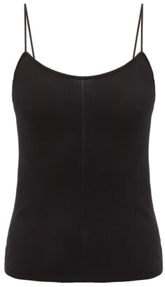 Lemaire Fine-strap Knitted Cami Top - Black