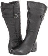 Gabriella Rocha Katy Double Wide Calf (Black Pebble) - Footwear