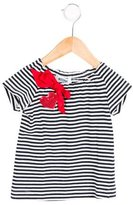 Moschino Girls' Striped Sequin-Accented Top